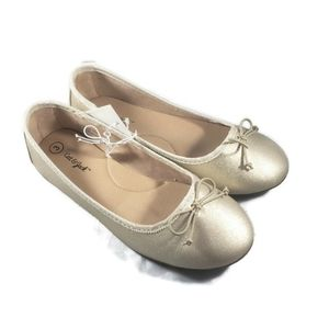Cat & Jack Size 3 Gold Ballet Slippers NWT